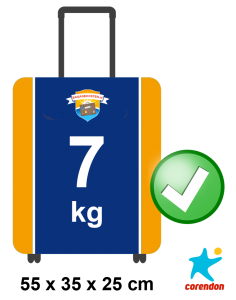 Corendon handbagage afmetingen