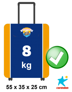 corendon handbagage afmetingen 8kg