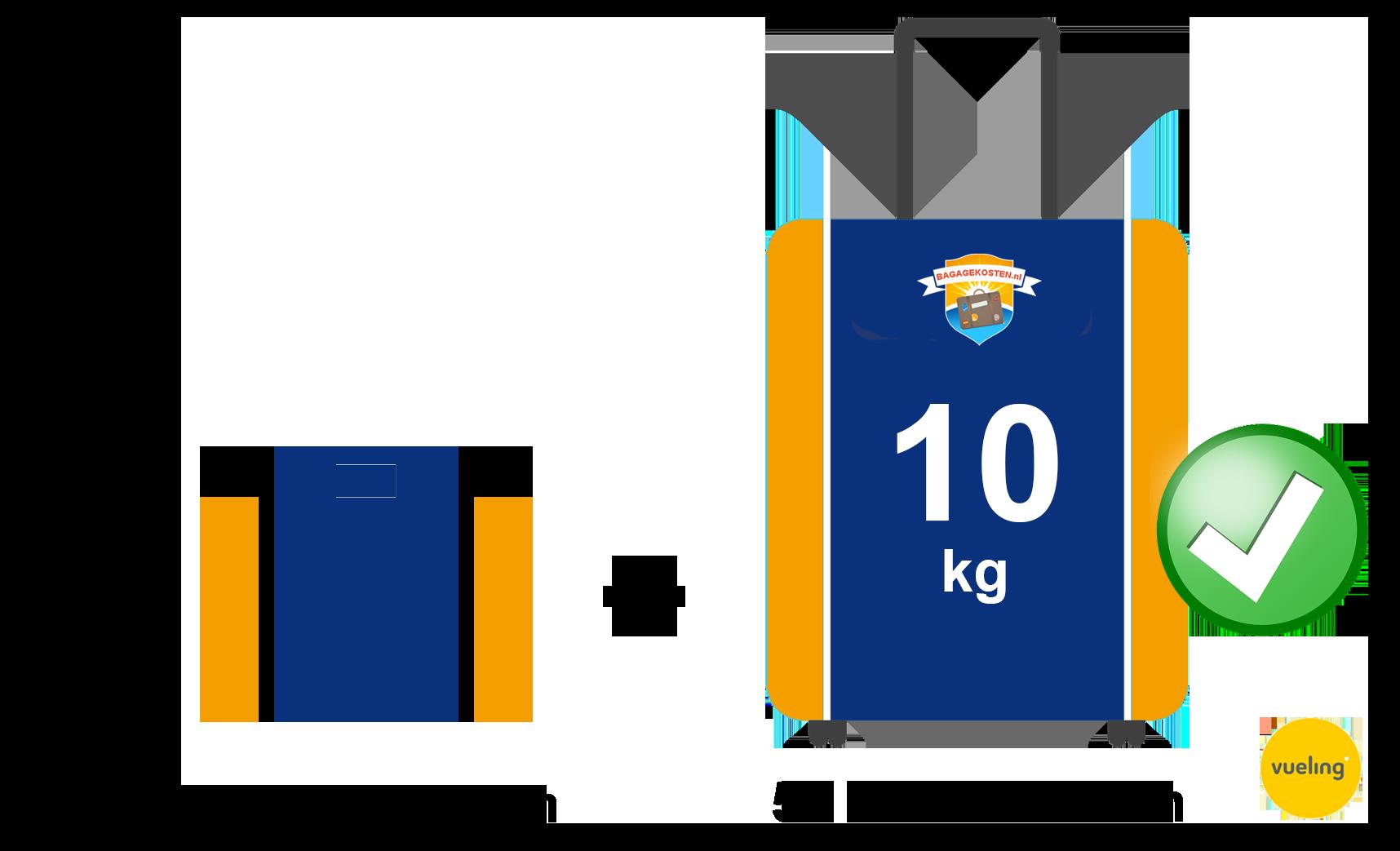 handbagage Vueling afmetingen en regels