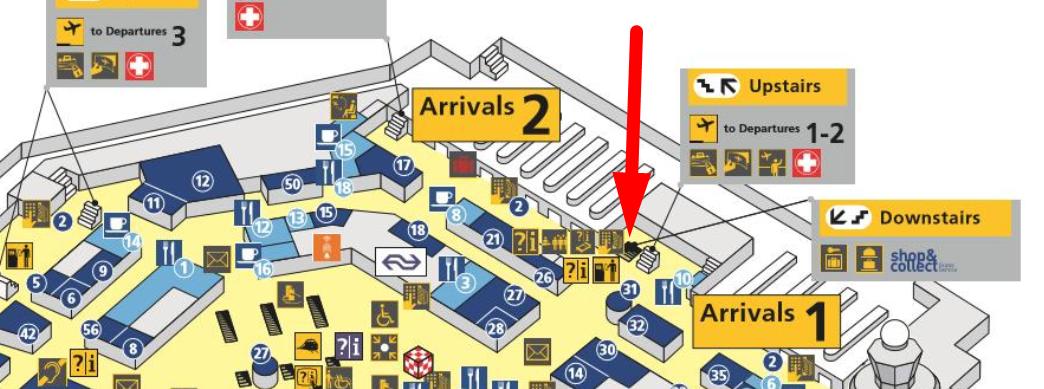 bagagekluizen / depot locatie schiphol